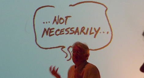The absence of Klaus Krippendorff translating between cybernetics, myths and metaphors.