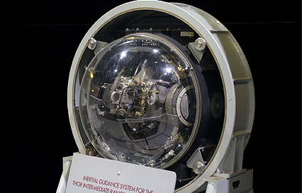 "Internal guidance system on display at the {link url=""http://www.nationalmuseum.af.mil"" target=""_new""}National Museum of the U.S. Air Force{/link} ({link url=""http://www.nationalmuseum.af.mil/factsheets/factsheet.asp?id=13567"" target=""_new""}source{/link})"